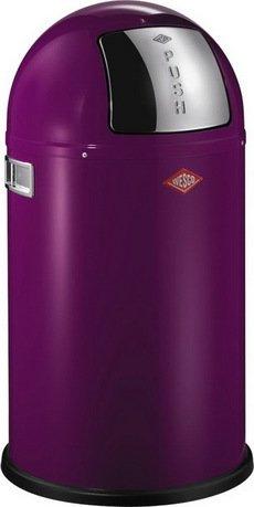 Ведро для мусора с заслонкой (22 л), 35х63 см, ежевика (117568)Мусорные ведра<br>Этот вместительный, стильный контейнер идеально подойдет для кухни, ванной, загородного дома, балкона, террасы, а также бара или ресторана. Оптимальный выбор для большой семьи. Корпус контейнера выполнен из высококачественной нержавеющей стали, покрытой стойкой краской. Внутреннее мусорное ведро изготовлено из гальванизированной огнестойкой стали и снабжено плотным резиновым кольцом для надежной фиксации мусорных мешков. На корпусе есть большая и удобная кнопка, при нажатии на которую легко открывается крышка контейнера.<br><br>Серия: Kickboy