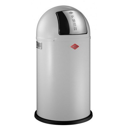 Ведро для мусора с заслонкой (50 л), 40х75.5 см, белое (117570)Мусорные ведра<br>Этот вместительный, стильный контейнер идеально подойдет для кухни, ванной, загородного дома, балкона, террасы, а также бара или ресторана. Оптимальный выбор для большой семьи. Корпус контейнера выполнен из высококачественной нержавеющей стали, покрытой стойкой краской. Внутреннее мусорное ведро изготовлено из гальванизированной огнестойкой стали и снабжено плотным резиновым кольцом для надежной фиксации мусорных мешков. На корпусе есть большая и удобная кнопка, при нажатии на которую легко открывается крышка контейнера.<br><br>Серия: Kickboy