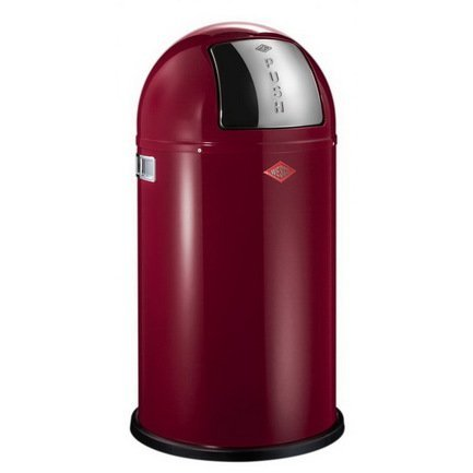 Ведро для мусора с заслонкой (50 л), 40х75.5 см, рубиново-красное (117579)