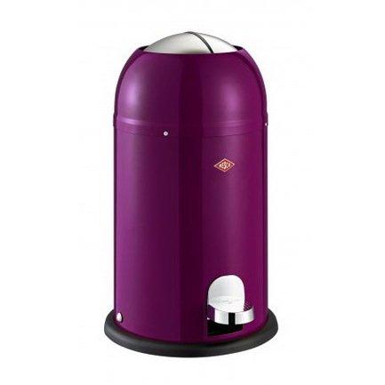 Ведро для мусора с заслонкой и педалью Kickmaster Junior (12 л), 30х51 см, ежевика (117595)Мусорные ведра<br>Корпус контейнера выполнен из высококачественной нержавеющей стали, покрытой стойкой краской. Внутреннее мусорное ведро изготовлено из гальванизированной огнестойкой стали и снабжено плотным резиновым кольцом для надежной фиксации мусорных пакетов. На корпусе контейнера есть большая хромированная педаль, при нажатии на которую легко открываются и опускаются вниз створки крышки. Таким образом открыть этот контейнер можно даже без помощи рук.<br><br>Серия: Kickmaster Junior