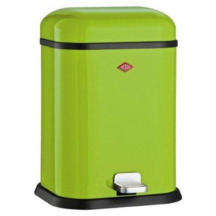 Ведро для мусора с педалью прямоугольное Single Boy (13 л), 29.5х26.5х41.5 см, зеленый лайм (117597)