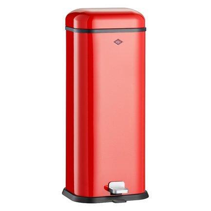 Ведро для мусора с педалью, прямоугольное Superboy (20 л), 29.5х26.5х70.5 см, красноеМусорные ведра<br>Этот практичный мусорный контейнер прямоугольной формы отличается стильным исполнением и потрясающим удобством в использовании. Корпус и крышка контейнера выполнена из высококачественной нержавеющей стали, покрытой стойкой краской, а внутреннее мусорное ведро - из прочного бытового пластика. Контейнер прекрасно впишется в интерьер вашей кухни и ванной, а также балкона и террасы.<br><br>Серия: Superboy