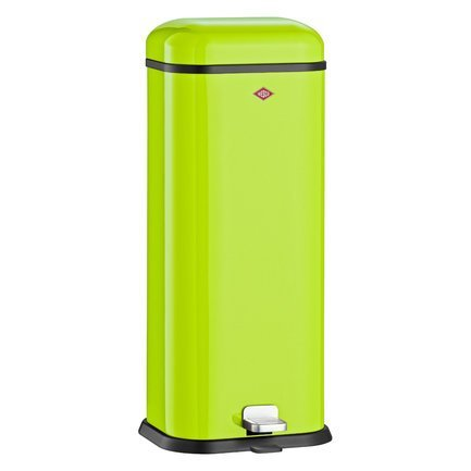 Ведро для мусора с педалью, прямоугольное Superboy (20 л), 29.5х26.5х70.5 см, зеленый лайм