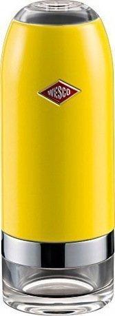 Мельница для соли и перца, 6х16 см, лимонно-желтая (322774-19)Мельницы для перца, соли, специй<br>Эта мельница для специй - новинка от компании Wesco - предназначена для измельчения соли, перца, различных специй и сухих трав. Благодаря встроенному механизму CrushGrind из высококачественной керамики мельница отлично справляется и с грубым и с тонким помолом. Керамический механизм прочный и долговечный. Для выбора подходящей степени помола на корпусе мельницы есть вращающееся кольцо. Мельницу легко мыть и разбирать. Чтобы наполнить специями контейнер из прозрачного акрила, нужно снять металлическую часть корпуса.<br>