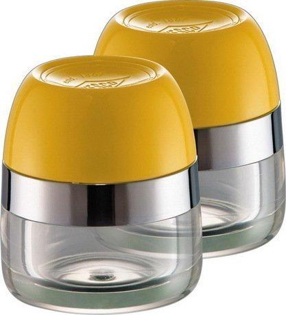 Баночки для хранения специй, 2 шт., 6х7 см, лимонно-желтые (322776-19) Wesco