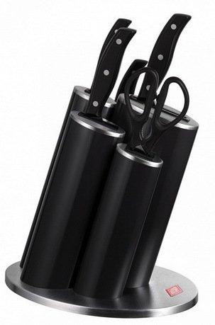 Набор ножей Азия 5 пр., в подставке, черный (322631-62)Наборы ножей<br>Незаменимый помощник на кухне - набор ножей. Учитывающий индивидуальные потребности повара, профессионально составленный набор обладает неограниченным сроком службы. Отменное качество, удобные рукояти и солидный ассортимент в состоянии удовлетворить самых взыскательных покупателей.<br><br>Серия: Asia Knife Style<br>Состав: Нож для томатов, Кухонные ножницы, Нож для чистки овощей, Нож сантоку, Нож поварской