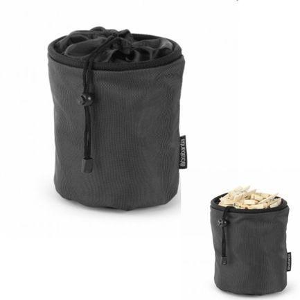 Мешок для прищепок, 15х17 см, черныйАксессуары для ванной<br><br>