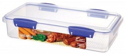Контейнер для закусок Klip IT Utility (1.75 л), 29х15.2х7 см, синийЛанч-боксы<br>Пластиковый контейнер от Sistema - незаменимый предмет для хранения разнообразных продуктов, полуфабрикатов и готовых блюд на кухне, на работе, в дороге и на отдыхе. Пластиковый контейнер с крышкой - удобная «консервная банка», в которой продукты не теряют своих свойств и надежно защищены от воздействия внешней среды.<br><br>Серия: Klip-it