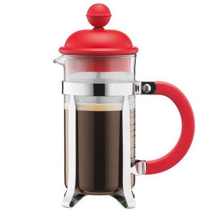 Кофейник с прессом Caffettiera (0.35 л), красный