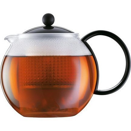 Чайник заварочный с прессом Assam (0.5 л), черный