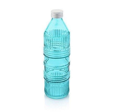 Бутыль для воды с крышкой Industrial (850 мл), голубая от Superposuda