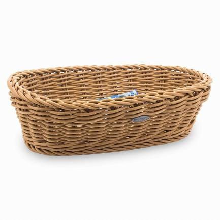 Корзина прямоугольная, 28.5х11х5 см, бежеваяХлебные корзины<br>Стильная корзина для хлеба станет отличным завершением сервировки любого стола. Вы оцените практичность пластиковой корзинки, стилизованной под плетенную из лозы. В ней очень удобно не только подавать хлеб к столу, но и хранить его.<br><br>Серия: Saleen