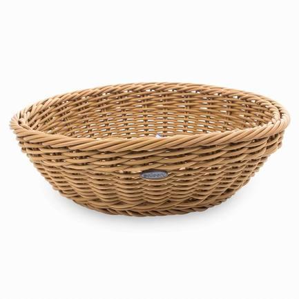 Корзина для хлеба, 29х8 см, бежеваяХлебные корзины<br>Стильная корзина для хлеба станет отличным завершением сервировки любого стола. Вы оцените практичность пластиковой корзинки, стилизованной под плетенную из лозы. В ней очень удобно не только подавать хлеб к столу, но и хранить его.<br><br>Серия: Saleen
