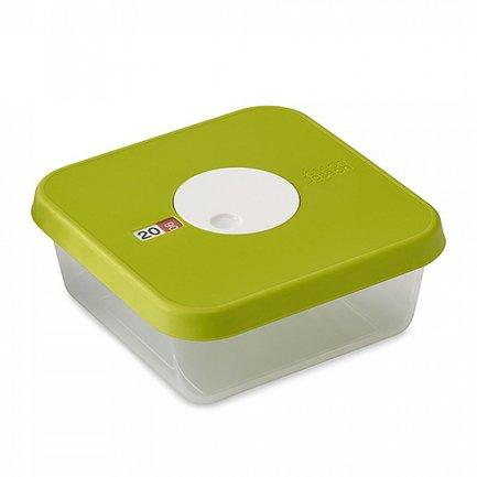 Контейнер для хранения продуктов Dial (1.2 л) датируемый, 17.2х7.2х17.2 см, квадратныйКонтейнеры<br><br><br>Серия: Dial