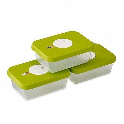Набор контейнеров для хранения продуктов Dial (1 л) датируемых, 18.7х10.1х14.1 см, 3 шт.Контейнеры<br><br><br>Серия: Dial