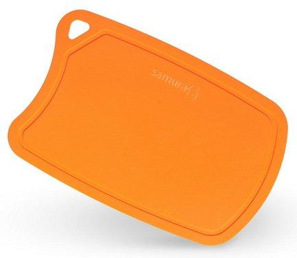 Доска Samura термопластиковая, 38х25х0.2 см, оранжевая