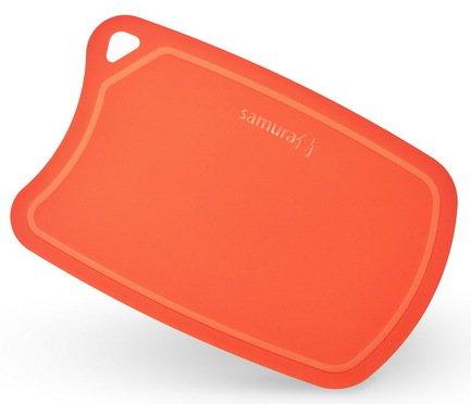 Доска Samura термопластиковая, 38х25х0.2 см, краснаяРазделочные доски<br>Практичная доска для разделывания и нарезания различных продуктов из пищевого пластика идеальна для ежедневного приготовления блюд. Ее поверхность легко моется, не затупляет лезвие ножей и не впитывает запахи.<br><br>Серия: Cutting board TPU
