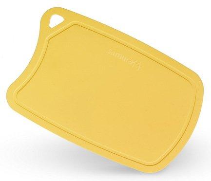 Доска Samura термопластиковая, 38х25х0.2 см, желтая