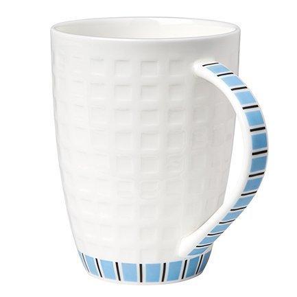 Кружка белая с голубым рисунком (330 мл)