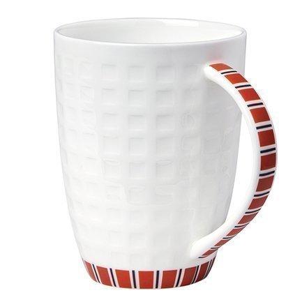 Кружка белая с красным рисунком (330 мл)