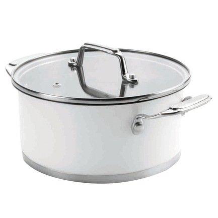 Кастрюля Cookware White с крышкой (4.2 л), 24 см