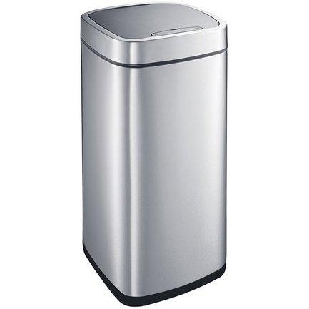 Ведро сенсорное для мусора (28 л), 30.5x30.5x57см, металлик
