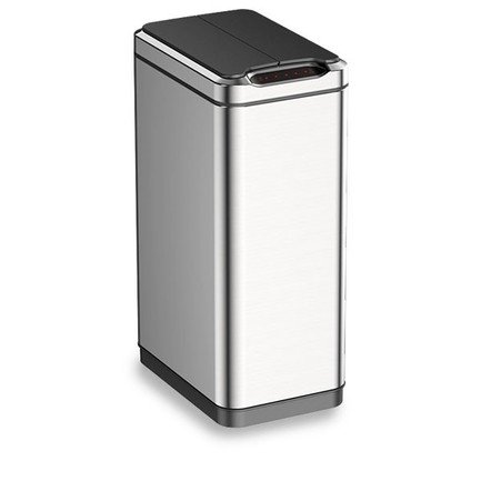 Ведро сенсорное для мусора (30 л), металлик, ракушка