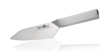 Нож Сантоку Tojiro Origami, 17 см, со стальной рукоятью