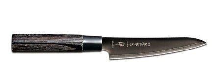 Нож универсальный Zen Black, 13 см, с деревянной рукоятьюУниверсальные ножи<br><br><br>Серия: Tojiro Zen