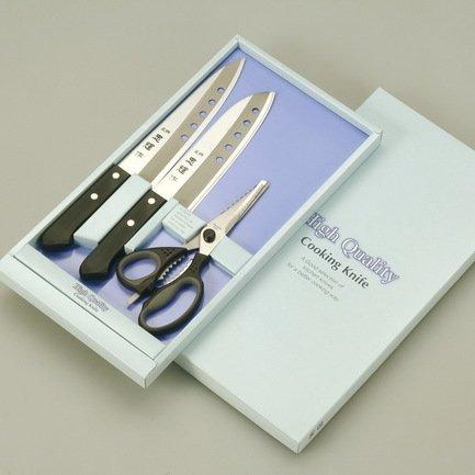 Набор ножей Tadateru-Saku, 3 пр.Наборы ножей<br><br><br>Состав: Нож универсальный, 15 см, Нож сантоку, 17 см, Нож поварской, 18 см