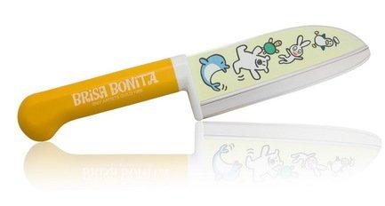 Нож поварской Tojiro Brisa Bonita, 11.5 см, сталь Sus420J2, с рукоятью из желтого пластикаПоварские ножи<br><br><br>Серия: Brisa Bonita