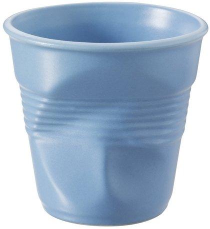 Мятый стакан для эспрессо (80 мл), синий сатин (RGO0108-190)Стаканы<br><br><br>Серия: Froisses