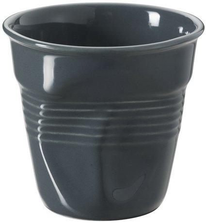 Мятый стакан для эспрессо (80 мл), темно-серый (RGO0108-131)Стаканы<br><br><br>Серия: Froisses
