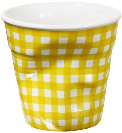 Мятый стакан для эспрессо (80 мл), желтая клетка (RGO0108-1-1966)Стаканы<br><br><br>Серия: Froisses