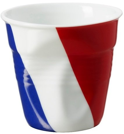 Мятый стакан для эспрессо (80 мл), французский флаг (RGO0108-1-2052)