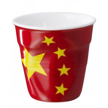 Мятый стакан для эспрессо (80 мл), флаг Китая (RGO0108-1-2072)