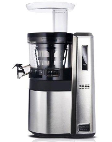 Соковыжималка шнековая HW, стальной корпусСоковыжималки<br>Характеристики:   Размеры (ДхШхВ): 20x28x46 см   Гарантия на мотор: 1 год  Гарантия на части: 1 год  Оборотов в минуту: 40-50  Чаша для сока: 1 л  Мощность: 150 W<br><br>Серия: Hurom Elite Pro<br>Состав: Чаша соковыжималки, Шнек, Сито с мелкими отверстиями, Сито с крупными отверстиями, Обводное кольцо для сбора сока с 4-мя полиуретановыми лепестками, Крышка чаши с приемником для продуктов, Толкате...