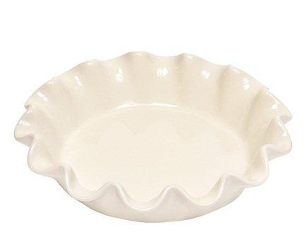 Форма для фруктового пирога круглая (1.2 л), 26.5 см, кремовая