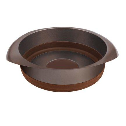 Посуда для выпечки Mocco&Latte круглая, 22 см, кофейно-коричневая
