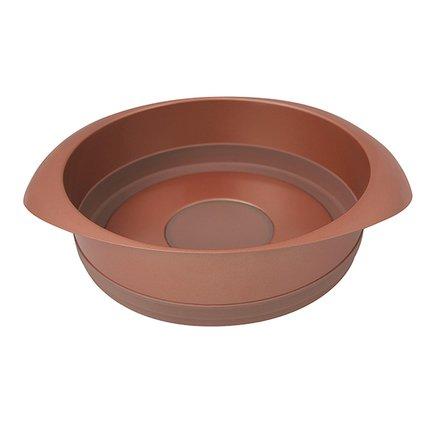 Форма для выпечки Karamelle круглая, 22 см, карамельная