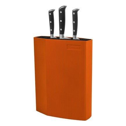 Подставка для ножей универсальная пластиковая Rondell Orange, оранжеваяМагнитные держатели, Подставки для ножей<br><br>