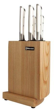 Набор ножей Adelard, 5 пр., на деревянной подставкеНаборы ножей<br><br><br>Серия: Adelard<br>Состав: Нож Сантоку, Нож универсальный, Нож для овощей, Поварской нож, Разделочный нож
