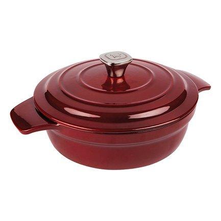 Кастрюля Noble Red круглая (2.7 л), 24 см, багровая