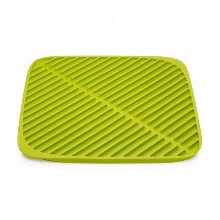 Коврик для сушки посуды Flume маленький, 31.5х31.5 см, зеленыйКухонные аксессуары<br><br><br>Серия: Flume