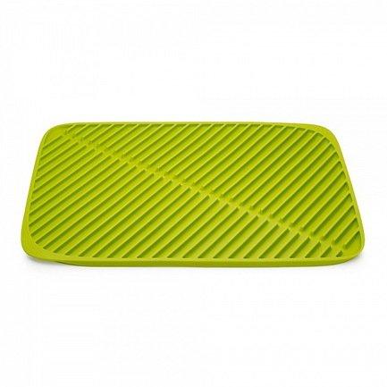 Коврик для сушки посуды Flume большой, 43.5х31.5 см, зеленыйКухонные аксессуары<br><br><br>Серия: Flume