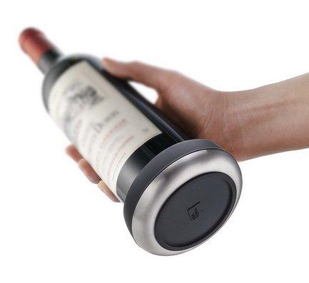 Подставка Bottle Coaster для сервировки бутылки 0.75 л, нержавеющая стальБарные аксессуары<br><br><br>Серия: VacuVin