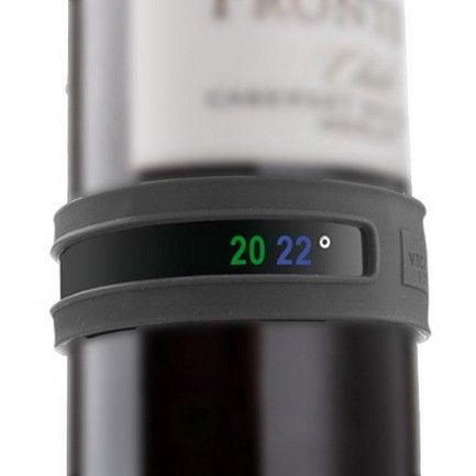 Браслет-термометр для вина Snap Thermometer, серыйТермометры для вина<br><br><br>Серия: VacuVin