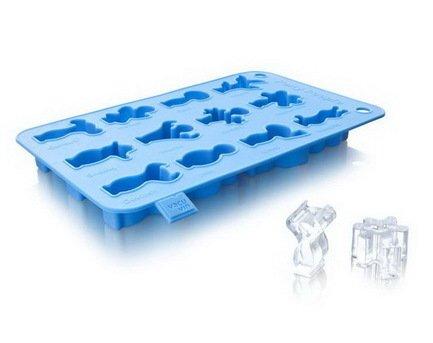 Форма для приготовления льда Веселые человечки, голубая