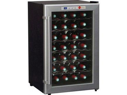 Винный шкаф (11-18°C), 28 бутылок, 6 проволочных полок от Superposuda
