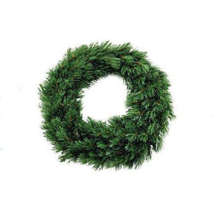 Декор Круг Лесный Красавица, 60 см, зелёныйНовогодние гирлянды<br><br>